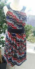 BCBG MAXAZRIA STRIPED DRESS  - MULTI COLOURED - SMALL - STRETCHY