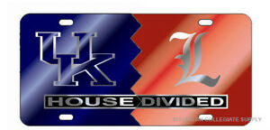 UK KENTUCKY / UL LOUISVILLE HOUSE DIVIDED License Plate / Car Tag
