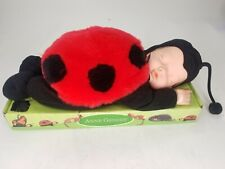 """New 1998 Limited Anne Geddes 15"""" Baby Ladybug Doll #526521 Unimax Toys Reed"""