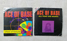 """CD AUDIO INT/ LOT DE 2 CDS ACE OF BASE """"WHEEL OF FORTUNE / ALL THAT SHE WANTS"""""""