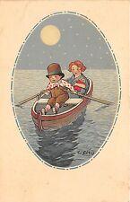 B16214 Children Sailing Illustration Signed C Giris
