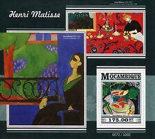 Mozambique 2015 MNH Henri Matisse 1v S/S Art Paintings Goldfish
