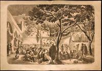1860 - Napoléon III - Algérie - Danse Mauresques - gravure