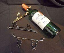 1x for 2 Wine NECK BOTTLE Holder. Metal. BRASS PLATED. MOTORHOME/Caravan/RV/BOAT