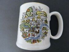 Weatherby Royal Falcon Gift Ware London Map Design Mug Cup Stoke Trent England