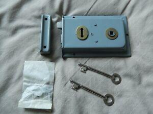 Brand New Rimlock and 2 Keys - Mortice Lock