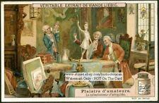 The Antique Collectors Le Collectionneur D'antiquites FUN c1909 Trade Ad Card