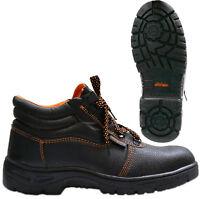 Men Safety Work Steel Toe Cap Midsole Boots Leather Combat Hiker Shoes Size 6-12