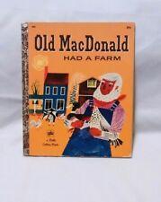Vintage Little Golden Book Old MacDonald Had a Farm Moritz Kennel 1960 LGB