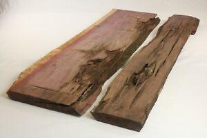 Purpleheart Exotic Epoxy Natural Live Edge Wood Slab Lumber End Table 1.8x19x45