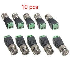 10pcs Male Coax CAT5 To CCTV Coaxial Camera BNC Video Balun Connectors Adapter A