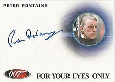 "James Bond 50th Anniversary: A204 Peter Fontaine ""Captain"" Autograph Card"