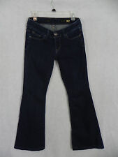 EXPRESS FIT AND FLARE Sz 4 Denim Jeans (30x32) Stretch Long Indigo Blue Ad