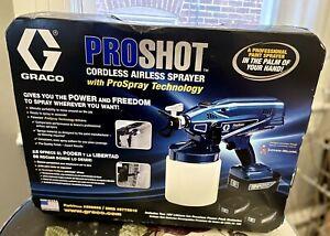 GRACO proshot cordless airless 18v paint sprayer NEW