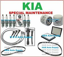 02-05 SEDONA (V6 - 3.5L) TUNE UP KITS: SPARK PLUGS, WIRE SET, BELTS & FILTERS