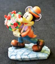 Vintage Enesco Mickey&Co Series My Lovin' Honey Man Mickey w Flowers Figurine
