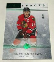 Jonathan Toews /99 made Artifacts Emerald Insert Parallel Hockey Card 46 Chicago