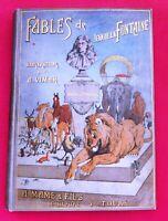 FABLES DE LA FONTAINE. illustrations VIMAR. Mame, Cartonnage in-8° illustré