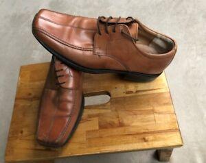 Clark's original, Mens 100%  leather, lace-up shoes, Tan size UK 8 (EU 42)