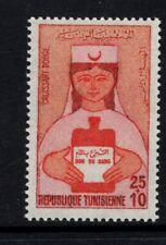 Tunisia 1973 Red Crescent Blood Donor Drive Nurse Bottle  Blood MNH Sc B140-B144
