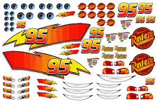 Lightning McQueen Edible iciing sheet Cake Stickers
