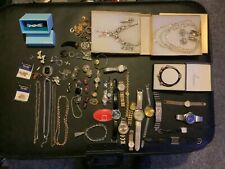 Mix lot of vintage and modern watches and jewellery