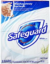 Safeguard Antibacterial Soap, White with Aloe, 4 oz bars, 8 ea