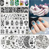 BORN PRETTY Nail Art Stamping Schablonen French Flowers Nagel Stencil Plates