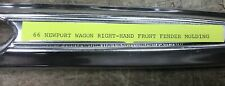 1966 Chrysler Newport Wagon Front Right Hand Fender Chrome Trim Piece Moulding