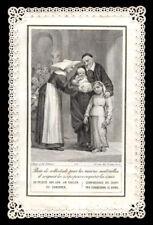santino merlettato-holy card-canivet S.VINCENZO DE PAOLI