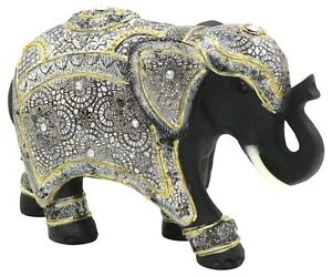 Geri Collection Out Of Africa Jungle Elmer Decorated Elephant Figurine Ornament
