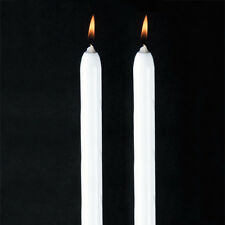 "Will & Baumer 15"" White Dripless Taper Candle 12 / Box - Fast Shipping!"