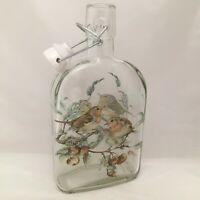 ROBIN BIRD  DESIGNS ON 500 ml SLOE GIN FLIP TOP BOTTLE CERAMIC STOPPER