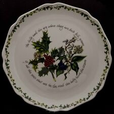 PORTMEIRION THE HOLLY AND THE IVY SCALLOPED PLATTER