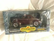 American MUSCLE 1940 Ford Deluxe Coupe''NEW,SEALED,MINT''DISPLAY MODEL,OWN IT