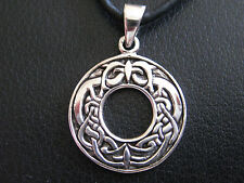 Keltischer Knoten als Kreismotiv 925'er Silber Anhänger / KA 289