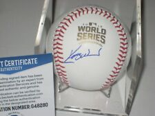 KERRY WOOD Signed Official 2016 WORLD SERIES Baseball w/ Beckett COA