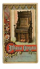 Victorian Trade Card ITHACA ORGAN CO agent EA Collins Albion, Erie County PA