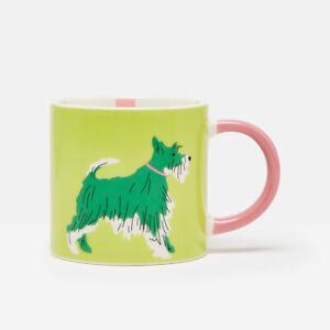 Joules Dog Mug, Light Green Coffee Tea Cup Fun Colourful Animals Drinks Ceramic