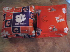 Cornhole Corn Toss Bags Clemson Tigers Set of 8 Canvas Duck Free Shipping