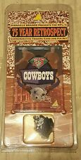 NEW IN PACKAGE 1994 NFL 75TH ANNIVERSARY DALLAS COWBOYS  PIN & TRADING CARD