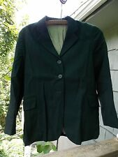 GRAND PRIX SHOW JACKET CHILDS 18S  MEASUREMENTS DESCRIP. GREEN PIN STRIPE