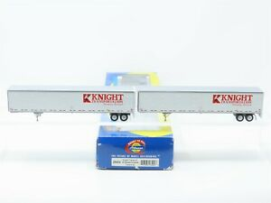 HO Athearn 28404 Knight Transport 53' Wabash Duraplate Trailers #5917 #5305