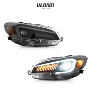 VLAND LED Headlights Fits For Subaru WRX & WRX STI 2015-2017 Projector Headlight