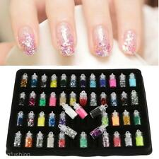 48PCS Nail Art Glitter Kit Nails Manicure Design Painting Dotting Detailing Tool
