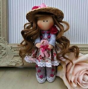 Rag doll handmade in the UK Tilda doll Ooak doll Cloth doll CHLOE 6 inch tall