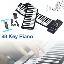 Portable 88 Keys Roll Up Silicone Flexible Electronic Keyboard Piano Organ New