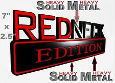 SOLID METAL Redneck Edition BEAUTIFUL EMBLEM Audi Blackhawk Berkeley Trunk Sign