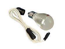 3 Watt 12 Volt - LED Bulb & Lead with switch for Solar, Camping, Sheds etc