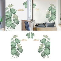 2pcs 45*60cm Green Plants Leaves Wall Decals Nursery Leaf Wall Sticker Art Decor